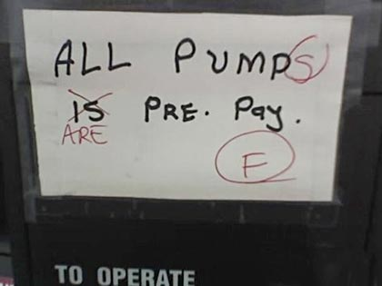 All Pump(s) Is Are Pre-Pay