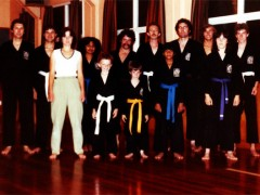 Newlands Karate Club, Wellington, New Zealand, 1983