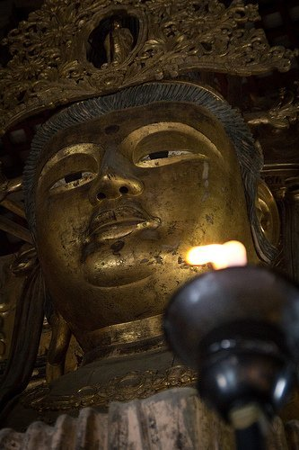 Diabatsu great Buddha of Todaiji Temple, Nara, Japan, by Jaitra Gillespie